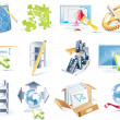 Vector web site development icon set — Vettoriali Stock