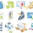 Постер, плакат: Vector web site development icon set
