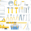 Royalty-Free Stock Vector Image: Vector woodworker tools icon set