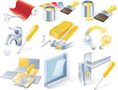 Vector home repair service icon set — Stock Vector