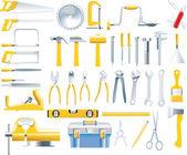 Vector woodworker tools icon set — Stock Vector