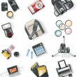 Vector photography equipment icon set - Stock Vector