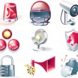 Vector security icon set -  