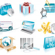 Vector shopping and Consumerism icon set — Stock Vector #8492817