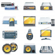 Vector car stereo systems icons - Vettoriali Stock 