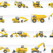 Vector transportation icon set. Tractors - Stock Vector