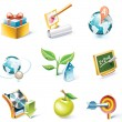 Royalty-Free Stock Vector Image: Vector cartoon style icon set. Part 5