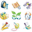 Vector cartoon style icon set. Part 10 - Stock Vector