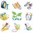 Vector cartoon style icon set. Part 10 — Stock Vector #8602197
