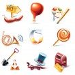 Vector cartoon style icon set. Part 11 — 图库矢量图片 #8602203