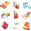 Royalty-Free Stock Vector Image: Vector cartoon style icon set. Part 15. Traveling