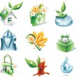 Royalty-Free Stock Vector Image: Vector cartoon style icon set. Part 20. Ecology
