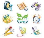 Vector cartoon style icon set. Part 10 — 图库矢量图片