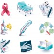 Vector cartoon style icon set. Part 27. Medicine - Stock Vector