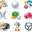 Vector cartoon style icon set. Part 36. Sport - Stock Vector