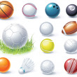 Royalty-Free Stock Vector Image: Vector sport equipment icons