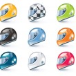 Vector sport equipment icons - Stock vektor