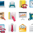 Vector universal square icons. Part 7. Business — Stock Vector
