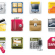 Royalty-Free Stock Vector Image: Vector universal square icons. Part 6. Banking