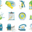 Vector car wash service icon set — Stock Vector #8937997