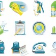 Stock Vector: Vector car wash service icon set