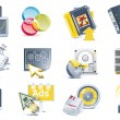 Vector website development icon set - Stock Vector