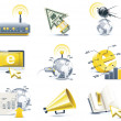 Vector communication icon set. Internet, part 1 - Stock Vector