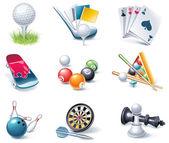 Icono de estilo de dibujos animados vector set. parte 35. deporte — Vector de stock