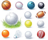 Vector sport equipment icons — Stock Vector