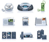 Vector household appliances icons. Part 8 — Wektor stockowy