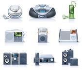 Vektor hushållsapparater ikoner. del 8 — Stockvektor
