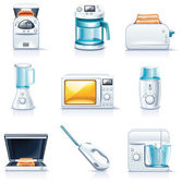 Vector household appliances icons. Part 1 — Stock Vector