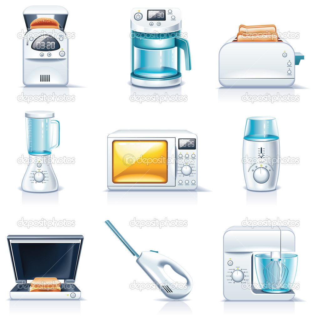 Vector household appliances icons. Part 1 — Stock Vector © Taras ...