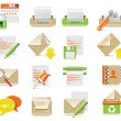 Vector e-mail icon set — Stock Vector