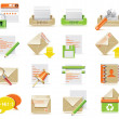 Vector e-mail icon set - Stock vektor