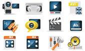 Vector video icon set — Stock Vector
