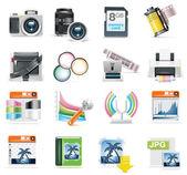Vector photography icon set — Stock Vector