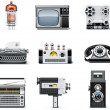 Vintage technologies icon set — Stockvectorbeeld