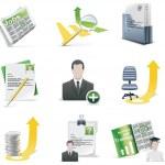 Vector recruiting icon set — Stock Vector