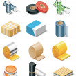 Vector building products icons. Part 2. Insulation - Векторная иллюстрация