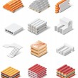 Stock vektor: Vector building products icons. Part 1. Concrete