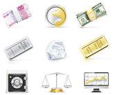 Vector online banking icon set. Part 5 — Stock Vector