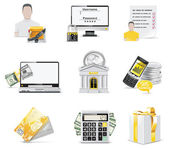 Vector online banking icon set. Part 2 — Stock Vector