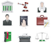 Vector law and order icon set. Part 1 — Stock Vector