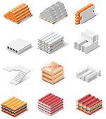 Vecteur icônes des produits de construction. partie 1. béton — Vecteur