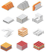 Vector building products icons. Part 1. Concrete — Stock Vector