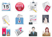 Voting and election icon set — Stock Vector