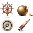 Vector marine travel icons. Part 3 — Stock Vector