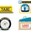 Travel and vacations icons. Part 2 — Stock Vector