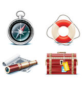 Vector marine travel icons. Part 2 — Stock Vector